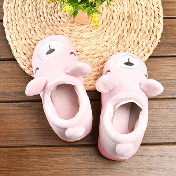 [XVSPCP01519] Cartoon Animal Closed Toe Slippers for Children(Pink)(25/26)