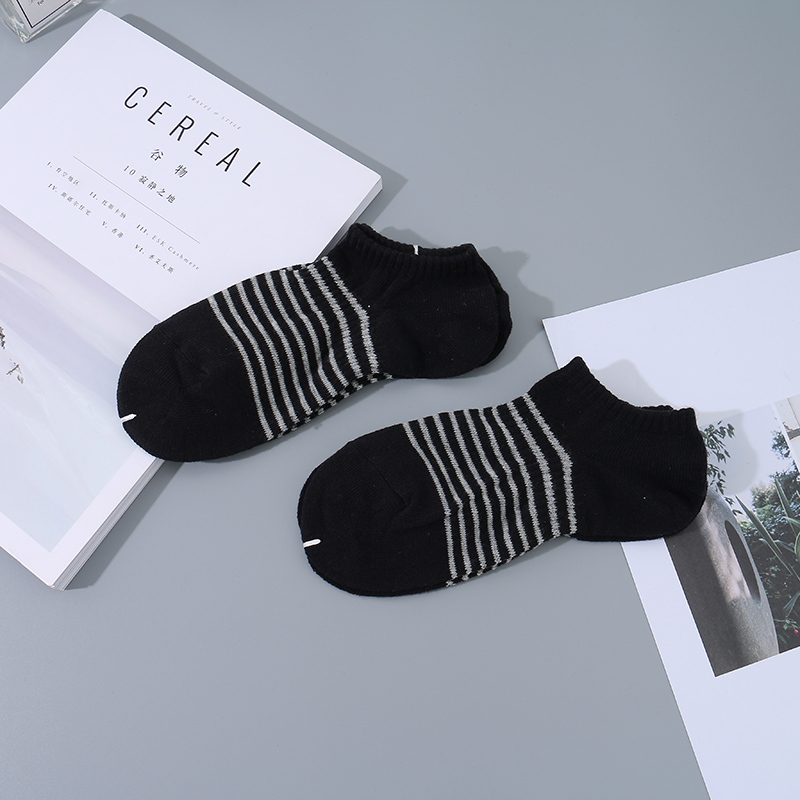 Classic Sport Style Striped Socks for Men (2 Pairs)(Black)