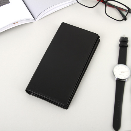 Minimalism Leather Long Wallet for Men