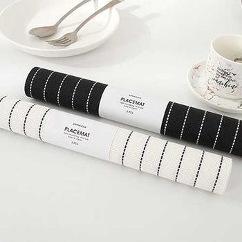 Nordic Style Striped Placemat Table Mat ( 2 Pcs )
