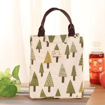Nordic Style Tree Pattern Lunch Bag
