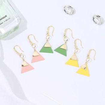 Painted Triangles Dangle Earrings
