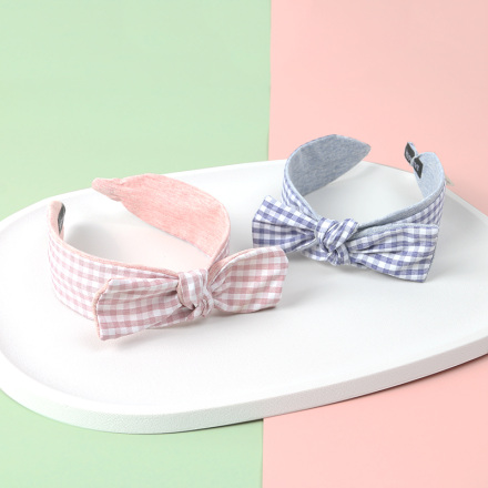 Plaid Bowknot Hairband