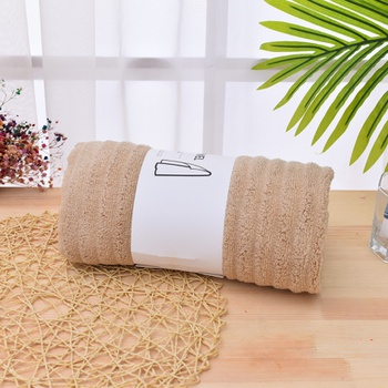 Ribbing Bath Wrap Towel (Brown)