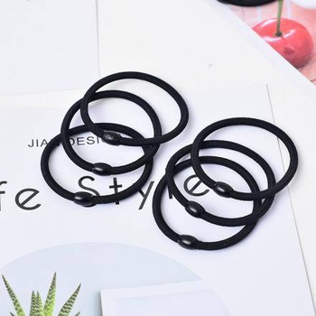 Simple Style Hair Rope with Bead (7 Pcs)