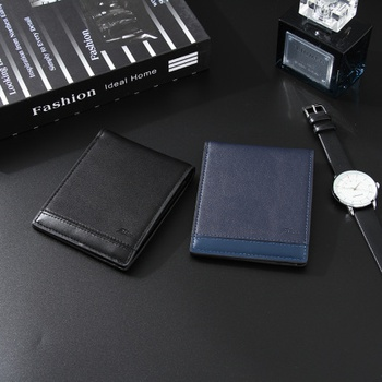 Simple Style Horizontal Short Wallet for Men
