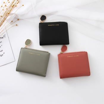 Simple Style Stylish Vertical Short Wallet for Women