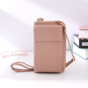 Simple Style Trendy Phone Pouch (Pink)