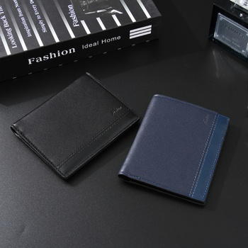 Simple Style Vertical Short Wallet for Men