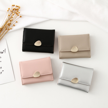 Simple Style Vogue 3-Fold Short Wallet for Women