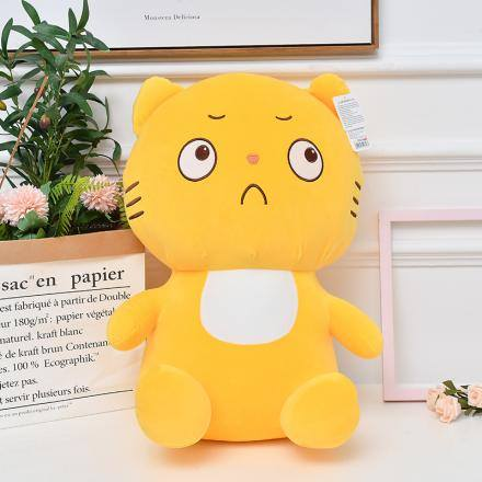 Sitting Angry Cat Plush Doll