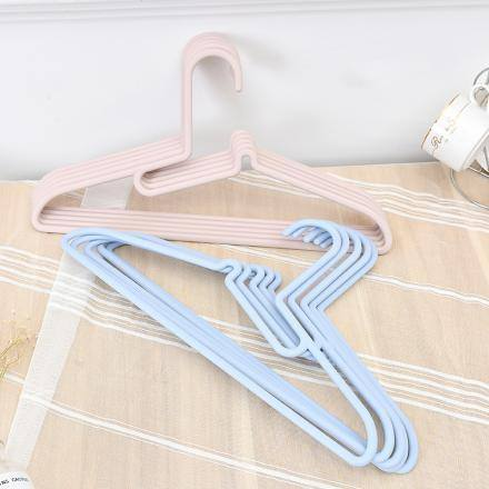 Collar-Protecting Clothes Hanger (Blue)(5 Pcs)