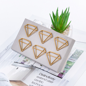 Diamond-Shaped Paper Clip Set
