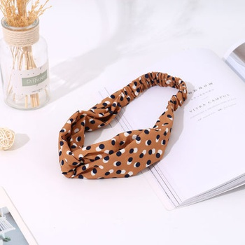 [XVFAHB00457] Dot Pattern Yellow Headband