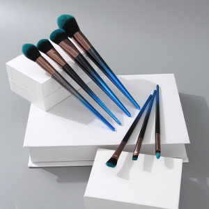 [XVHBMT00759] Electroplated Handle Series Makeup Brush (7 Count)(Dark Blue)