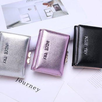 Embroidery Short Wallet Coin Purse for Women
