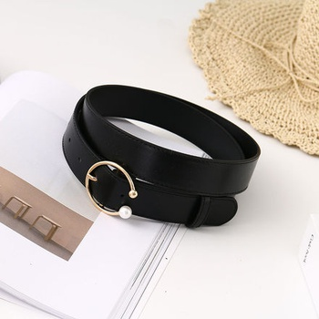 [XVSPB01511] Exquisite Vogue PU Belt for Women (Black)