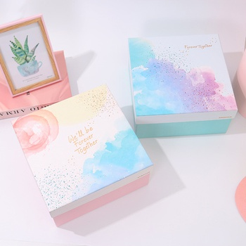 [XVOSGD01391] Fantasy Watercolor Gift Box Set (Square Box with String Lights)