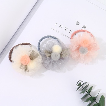 [XVFAHAC00316] Fluffy Gauze Hair Rope for Children