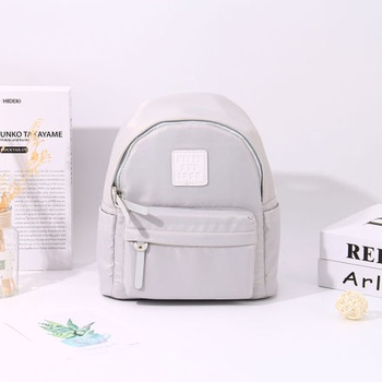 [XVBBP00033] Fresh Style All-Match Patch Backpack (Gray)