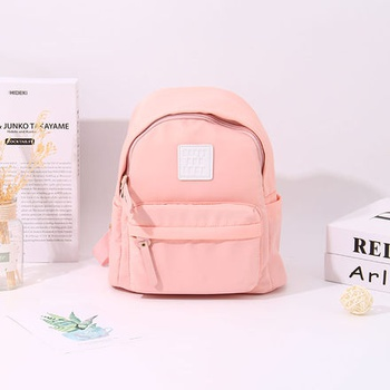 [XVBBP00034] Fresh Style All-Match Patch Backpack (Pink)