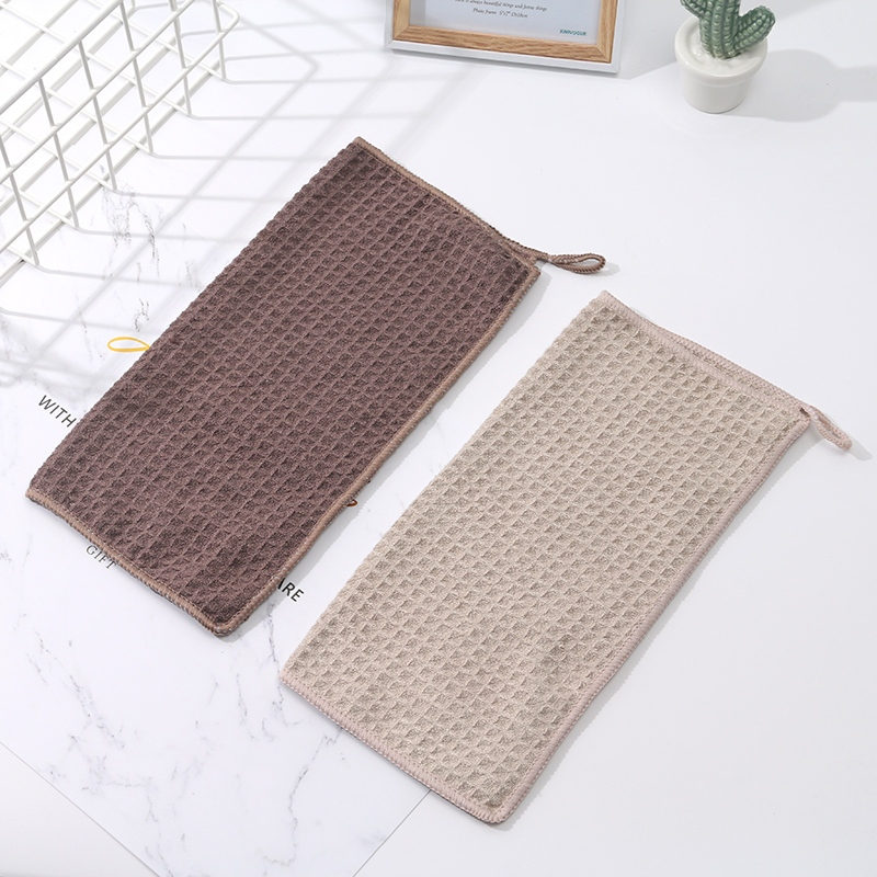 Jacquard Square Cleaning Cloth (2 Pcs)