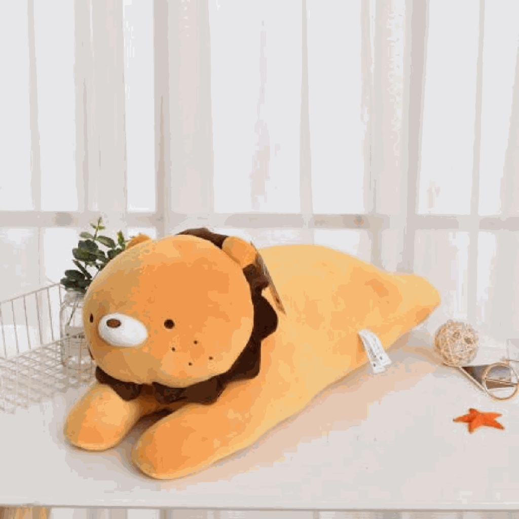 Large-Sized Lion Plush Doll