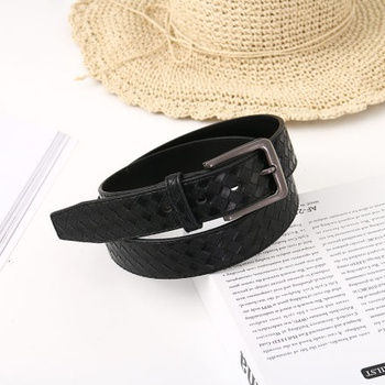 [XVSPB01510] Stylish Vogue Braided PU Belt for Men (Black)