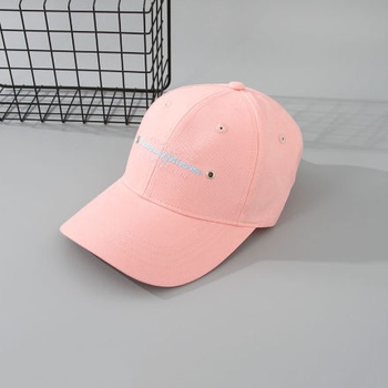 Trendy Letters Embroidery Baseball Cap for Adults (Pink)