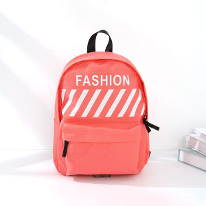 Trendy Vogue Cloth Backpack for Women (Orangish Pink)