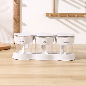 [XVHIKS01179] 3-in-1 Plastic Condiment Dispenser Box (Gray)
