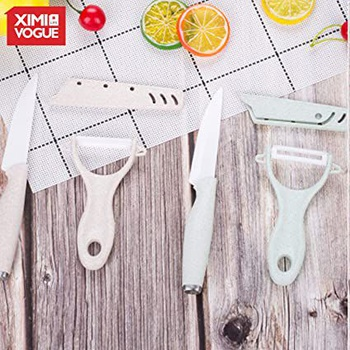 [XVHIKS01170] 4 Inch Wheat Straw Ceramic Peeler Set (2 Pcs)