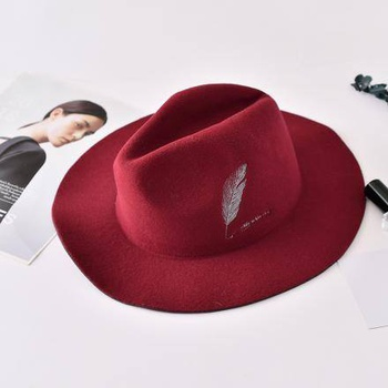 [XVSPH01565] All-Match Embroidery Hat(Purplish Red)