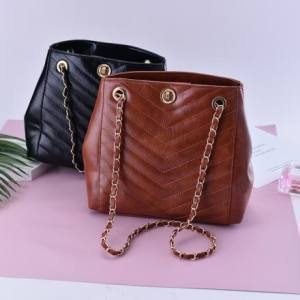 [XVBFB00144] All-Match Retro Style Trendy Shoulder Bag with Chain Strap