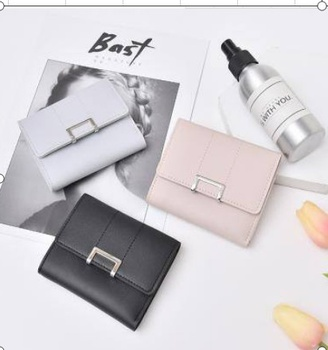 [XVBW00115] All-Match Simple Style Short Wallet for Women