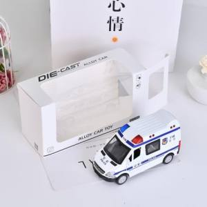 [XVTMT02694] Alloy Police Car Toy With Sound