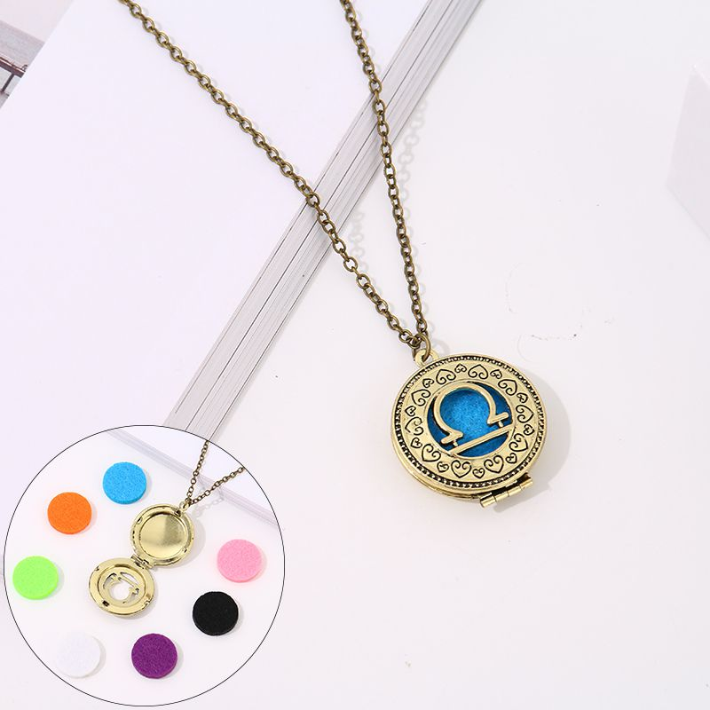 Aroma necklace with 7-color cotton zodiac models (Libra)