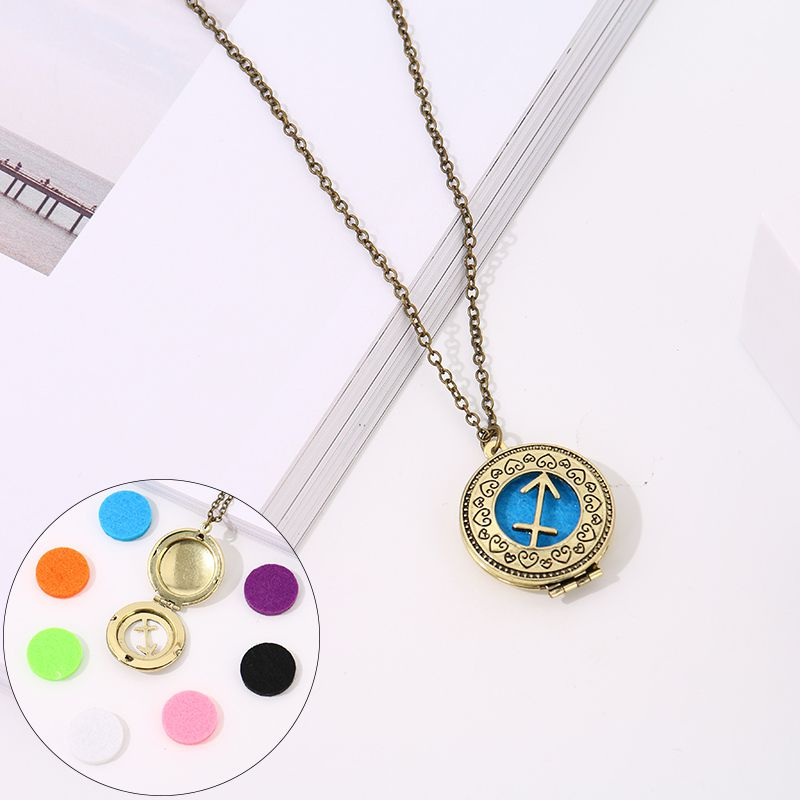 Aromatherapy necklace with 7 color cotton zodiac models (Sagittarius)