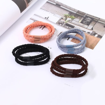 [XVFAHR00338] Basic Style Colorful Hair Tie (3 Count)