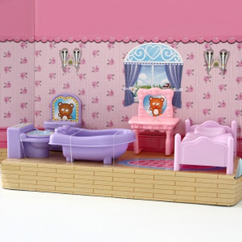 [XVTET02697] Bathroom Dollhouse Furniture Toy Set (VC6003)