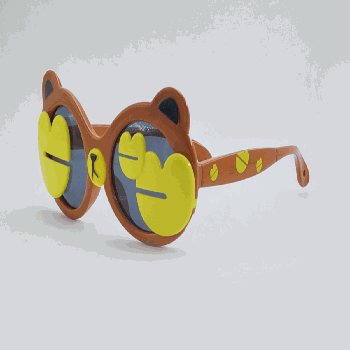 [XVSPEG02552] Bear Flip-Up Polarized Sunglasses for Children-Coffee