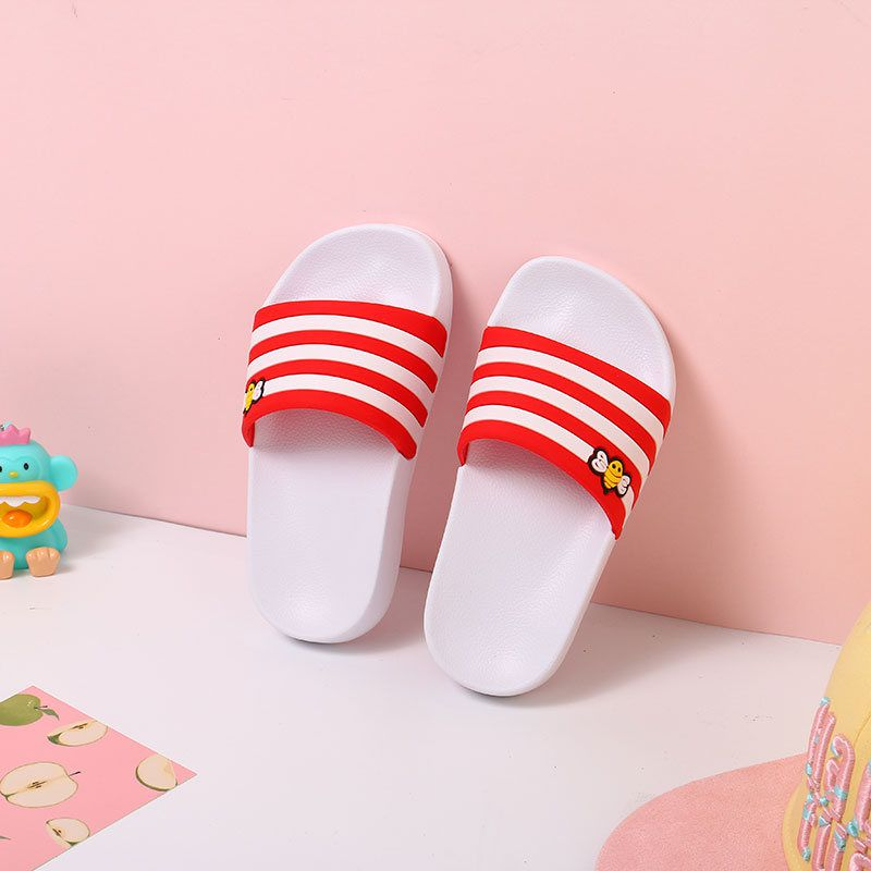 Bee Striped Slippers for Children (White)(24-25)