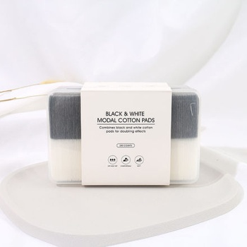 [XVHBMT00628] Black & White Modal Cotton Pads (280 counts)