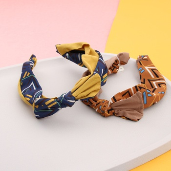 [XVFAHB00411] Bowknot Spliced Color Hairband