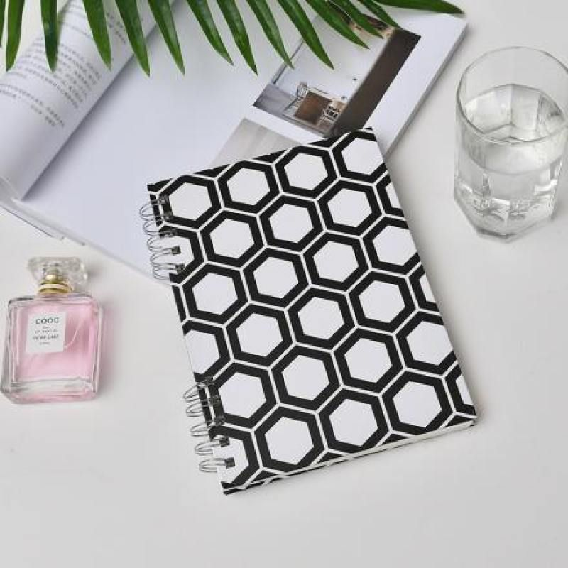 Business Style Honeycomb Pattern Spiral Notebook