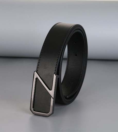 [XVSPB02555] Business Style Trendy Leather Belt for Men (Black)