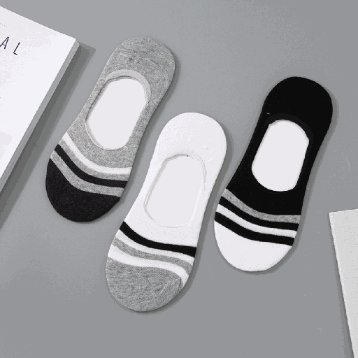 [XVSPS01688] Casual Style No-Show Socks for Men (2 Pairs)(Assorted Colors)