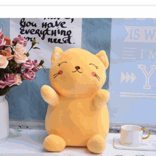 [XVTSPD02077] Cat Plush Doll (Yellow)