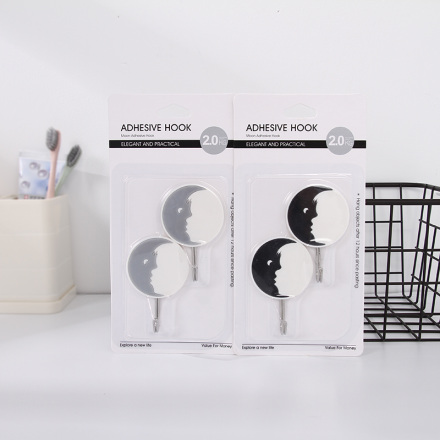 Moon Adhesive Hook (2 Count)