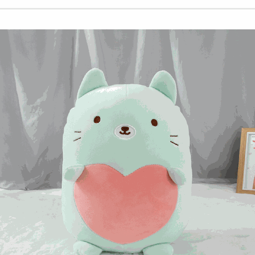 Plush Blue Hugging Cat